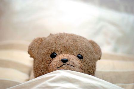 buonanotte: Un Teddy a letto