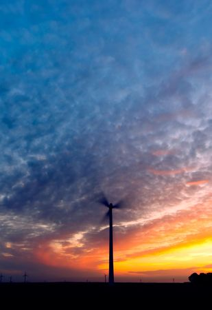 cool colors: Energy and sunset cool colors Stock Photo
