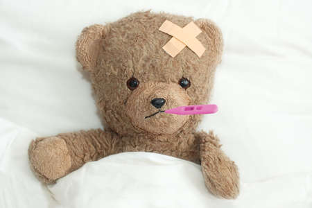 Teddy in hospital Stock Photo - 428606