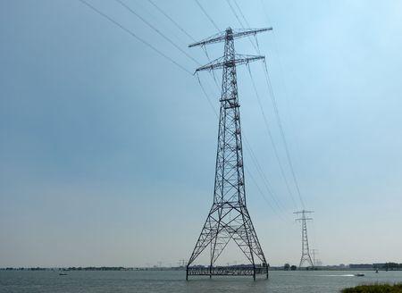 statics: Powerlines above water