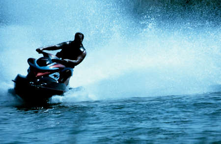 jetski: jet-ski fun on a day in summer Stock Photo