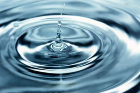 seen: Waterdrop seen through a macro lens
