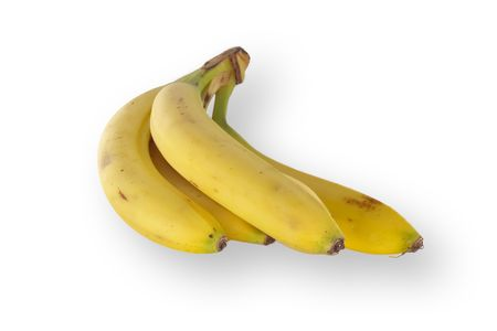 Isolated Bananas on white photo