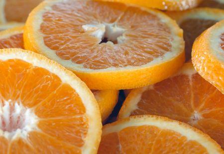Orange slice background Stock Photo - 444960