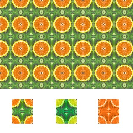 Fruit pattern seamless tiles with diffrent colors included Stock Photo - 444955