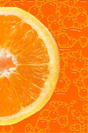 Fresh colored orange background Stock Photo - 448098