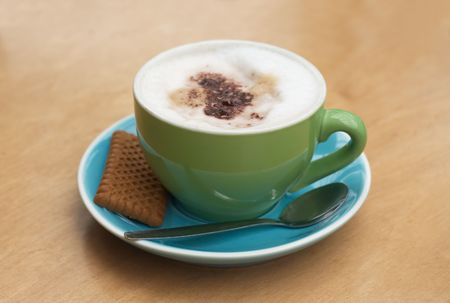 capucinno: A cappucino with trendy colors Stock Photo