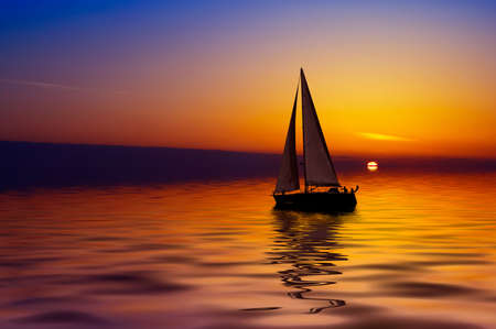 Sailboat against a beautiful sunset