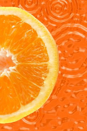 pectin: Fresh colored orange background