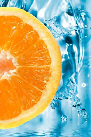 colorful orange slice on a fresh background Stock Photo - 452237
