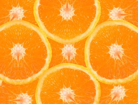 Orange slices in fresh colors Stock Photo - 452218