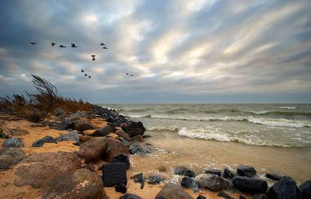 IJsselmeer a lake in the Netherlands.