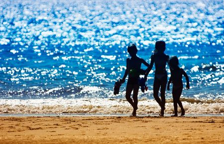 kids on the beach in summer Stock Photo - 475393
