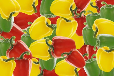 colorful pepper background photo