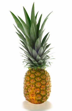 pinapple isolated on white and clipping path included photo