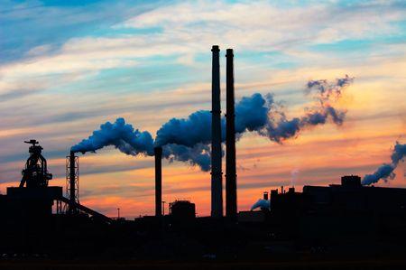 ijmuiden: Industry and sunset