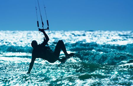 kite boarder in action photo
