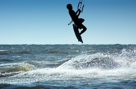 kite surfer in action photo