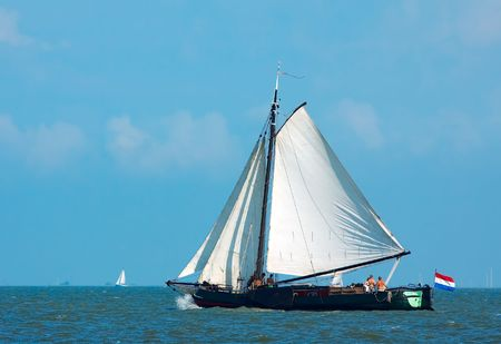 An old sailboat in the netherlands Stock Photo - 488803