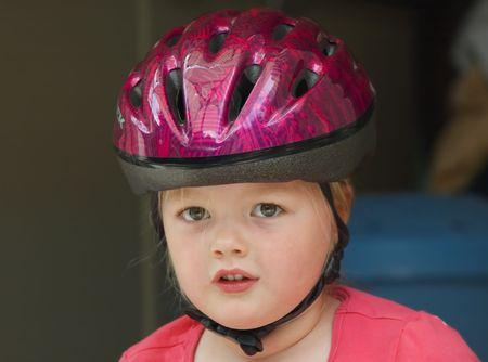 bicycle helmet: cute girl with bicycle helmet