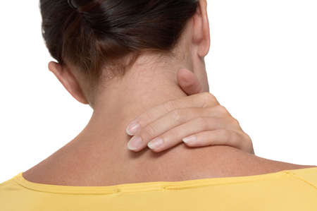 woman with pain Stock Photo