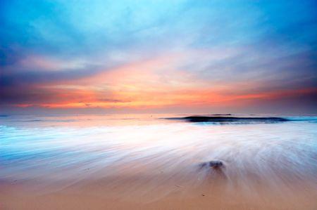 beautiful sunset on the beach Stock Photo - 503205