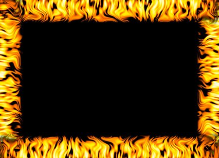 raging: border made out of fire Stock Photo
