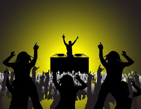 people dancing at a party Stock Photo - 523120