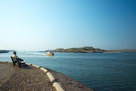 ijmuiden: harbor view