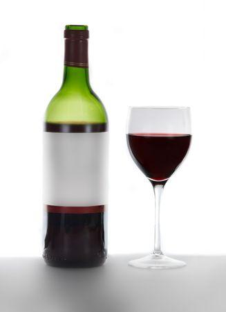 red wine bottle and glass Stock Photo - 552096