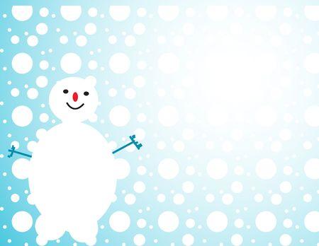 winter snowman design photo