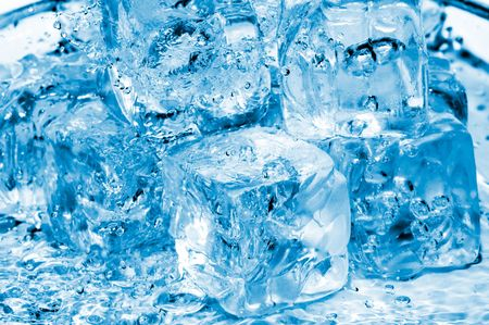 coolness: icecubes and fresh water Stock Photo