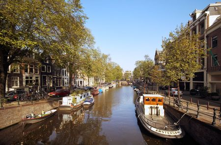 architectural tradition: canal in amsterdam