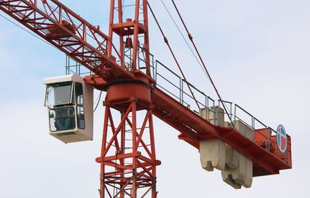 large crane at a construction site Stock Photo - 571436