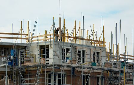 construction workers building a house Stock Photo - 571437