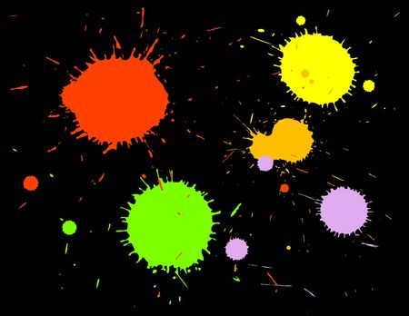 ink splats grouped and to be used as brushes, paint splatters, backgrounds or blood stains etc.  photo