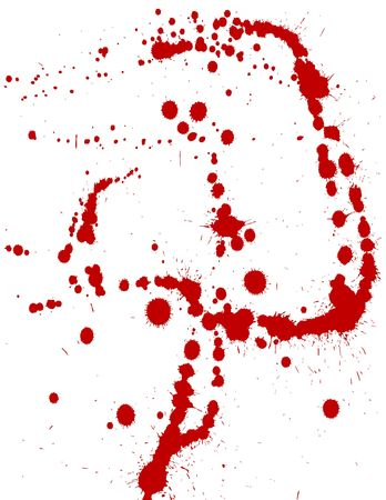 ink splats to be used as brushes, paint splatters, backgrounds or blood stains etc. photo