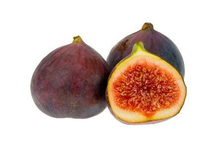fresh figs isolated on a white background Stock Photo - 1998783