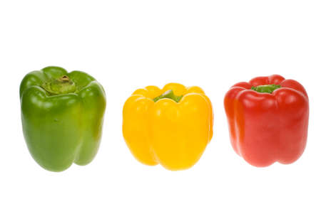 ingedient: fresh peppers isolated on a white background Stock Photo