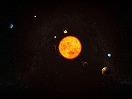 solar system photo