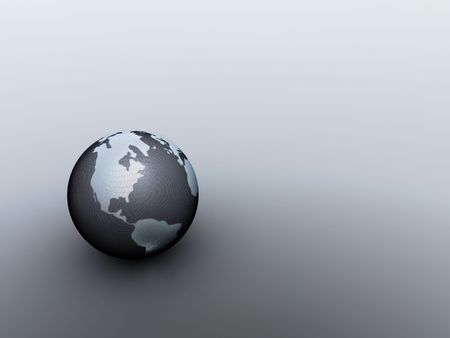 afrika: little metal globe Stock Photo