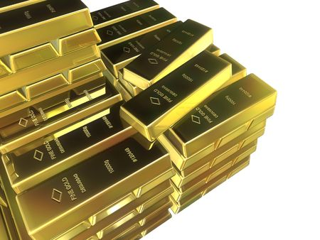 gold bars Stock Photo - 488543
