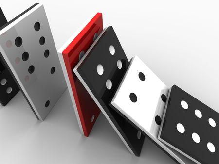 imbalance: domino stenen