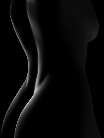 3d nude: nude woman 3d illustration