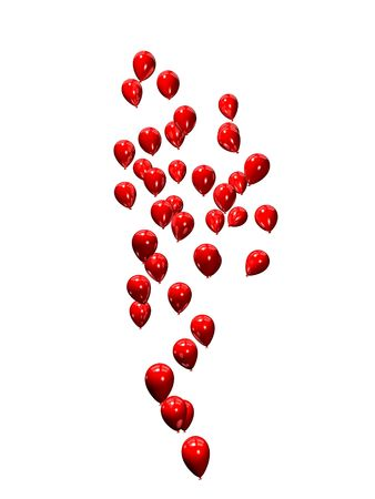 inflate: red balloons