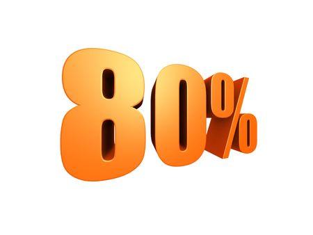 downpayment: 80 % Stock Photo