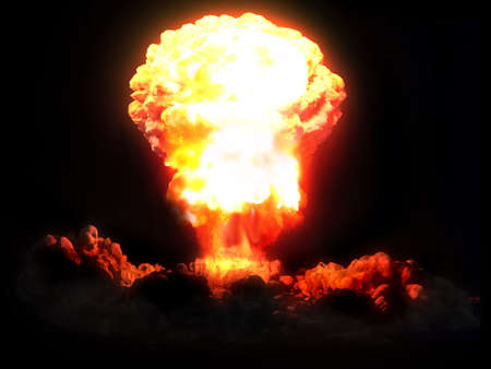 the end: nuclear explosion Stock Photo