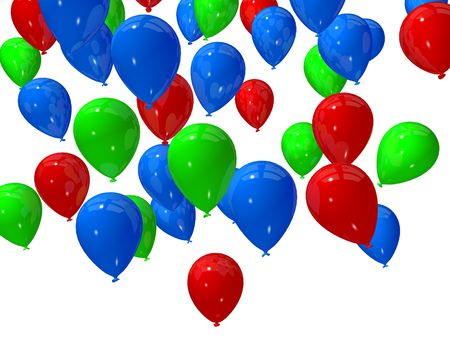 string together: colored balloons