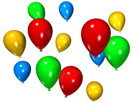 inflate: balloons Stock Photo