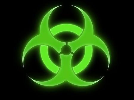 nuclear fusion: biohazard sign Stock Photo